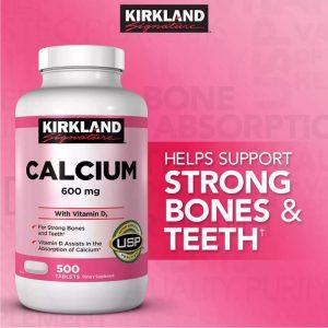 Viên bổ xương khớp Kirkland Signature Calcium 600 Mg With Vitamin D3 của Mỹ lọ 500 viên