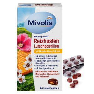 Kẹo ngậm trị ho Mivolis của Đức hộp 24 viên
