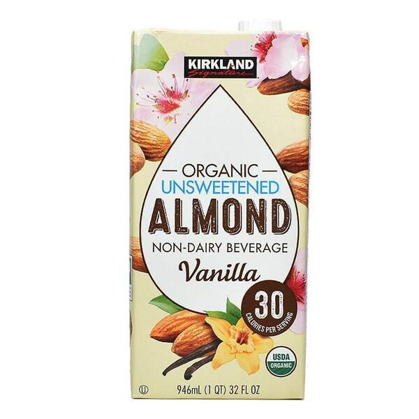 Sữa hạnh nhân Kirkland Signature Organic không đường của Mỹ thùng 6 hộp x 946ml Sữa hạnh nhân Kirkland Signature Organic không đường của Mỹ thùng 6 hộp x 946ml